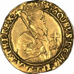 Janes I on Obverse of 1604 Unite