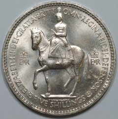 Elizabeth II on Horseback on 1953 Crown