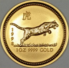 1998 Year of the Tiger Gold Coin